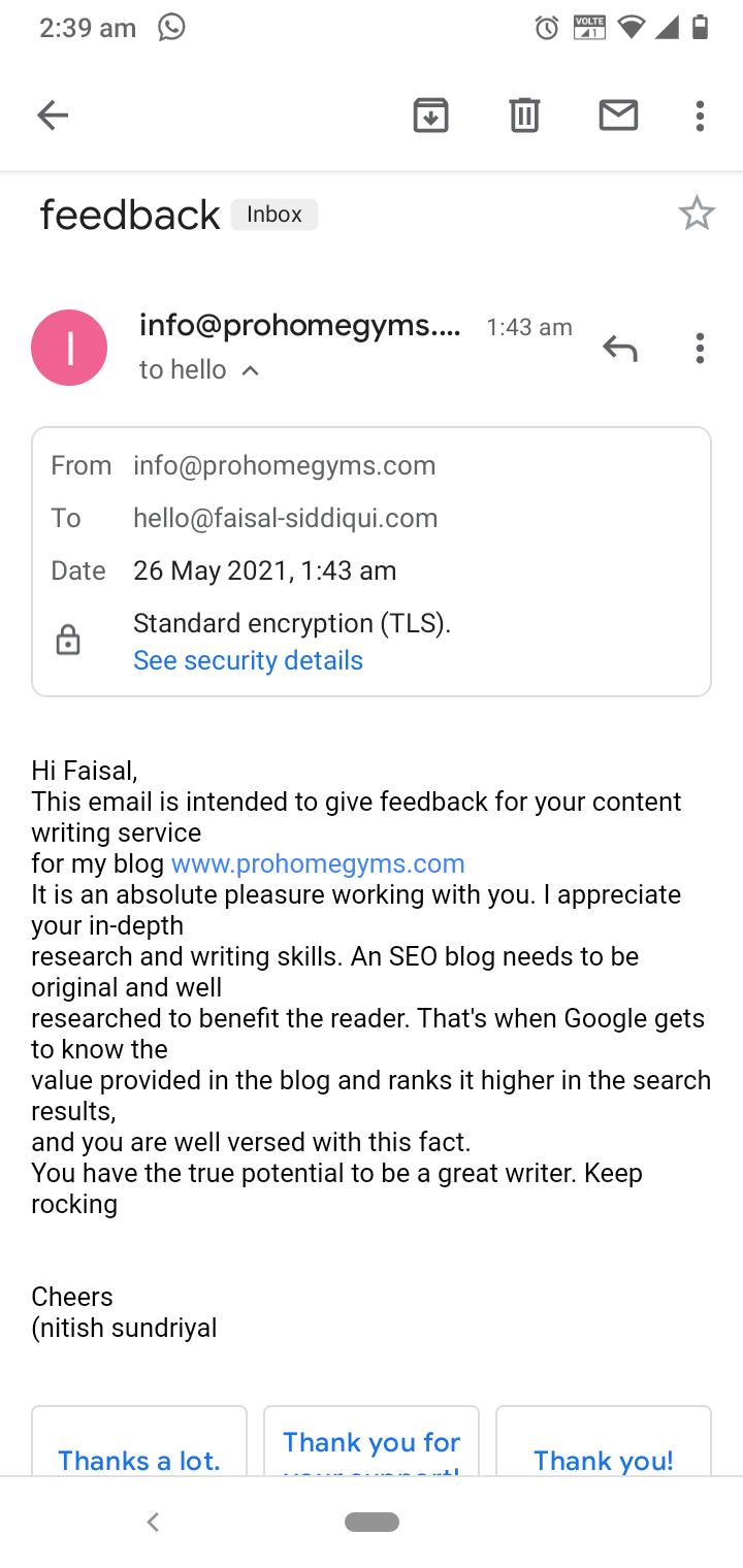 Prohomegym testimonial